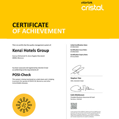 GROUPE KENZI HOTEL <br />SOLUTION POSI-CHECK
